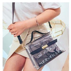 Mini Handbag Kelly style Clear Transparent IT Bag